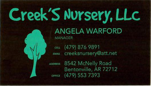Creek's Nursery