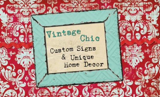 Vintage Chic Custom Signs